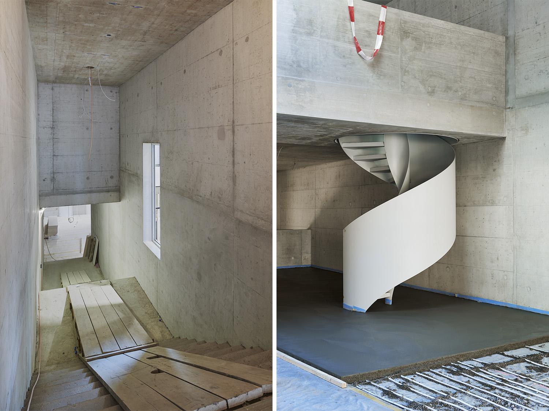 Die Bausstelle des Schulhaus Sandgruben in Basel, Schweiz aufgenommen am 10. März 2016 von Roman Weyeneth, fotografie roman weyeneth GmbH, Fotostudio Basel, Schweiz.
